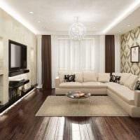 вариант светлого декора гостиной в частном доме картинка