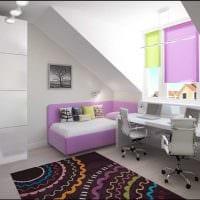 вариант яркого современного дизайна детской комнаты картинка