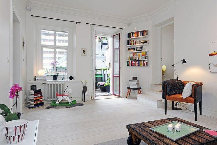 вариант необычного декора квартиры в скандинавском стиле