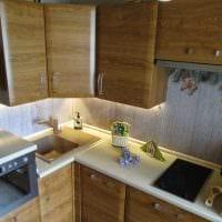 идея необычного дизайна кухни 8 кв.м картинка