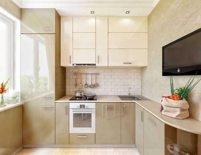 Дизайн и интерьер кухни 6 кв.м фото