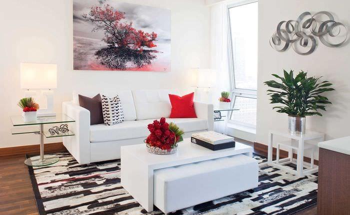 идея светлого стиля небольшой комнаты в общежитии