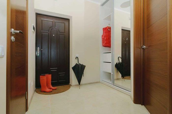 идея светлого стиля современной прихожей комнаты
