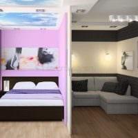 вариант необычного стиля гостиной комнаты 18 кв.м. картинка