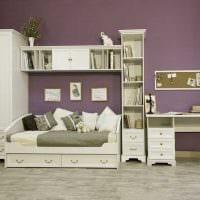 идея красивого стиля спальной комнаты для девочки в современном стиле фото