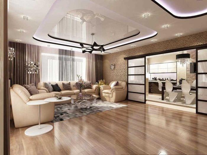 Потолок в зале — 150 фото самый ярких идей современного дизайна потолка
