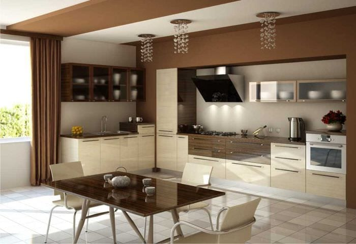 идея интересного бежевого цвета в дизайне квартиры