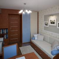 идея необычного интерьера детской комнаты для девочки 12 кв.м фото