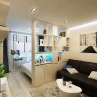 идея яркого декора гостиной комнаты 18 кв.м. картинка