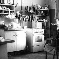 идея интересного интерьера комнаты в советском стиле фото