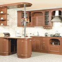 идея красивого дизайна кухни 14 кв.м фото