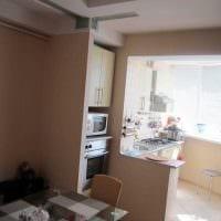 вариант яркого дизайна кухни 9 кв.м фото