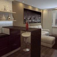 идея необычного стиля квартиры студии картинка