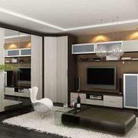 вариант светлого декора гостиной спальни 20 кв.м. картинка