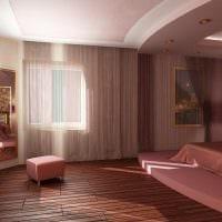 вариант светлого интерьера спальной комнаты для девочки в современном стиле фото