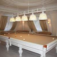 идея яркого стиля бильярдной комнаты фото