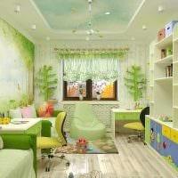 пример красивого стиля детской комнаты для двоих детей фото