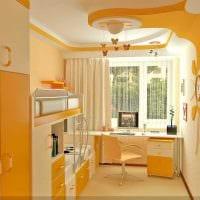 вариант светлого стиля детской комнаты для двоих детей картинка