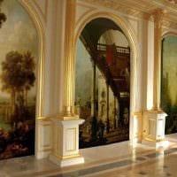 идея яркого декора дома с росписью стен картинка