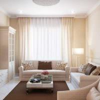вариант красивого интерьера гостиной спальни фото