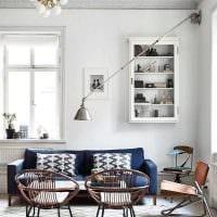 вариант необычного интерьера квартиры в скандинавском стиле фото