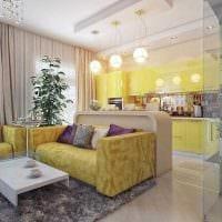 пример яркого стиля кухни 14 кв.м картинка