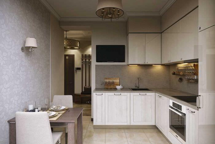 идея яркого декора кухни 8 кв.м