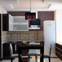 вариант светлого интерьера кухни 9 кв.м фото