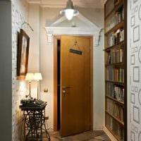идея светлого интерьера современной прихожей комнаты фото