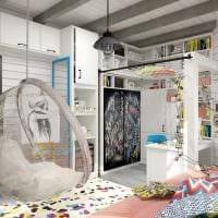 идея необычного интерьера спальной комнаты для девочки в современном стиле картинка