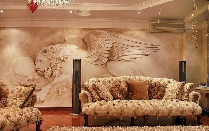 мысль ослепительного дизайна дома с росписью стен