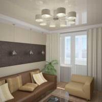 пример красивого стиля двухкомнатной квартиры фото