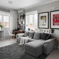 вариант красивого дизайна двухкомнатной квартиры картинка