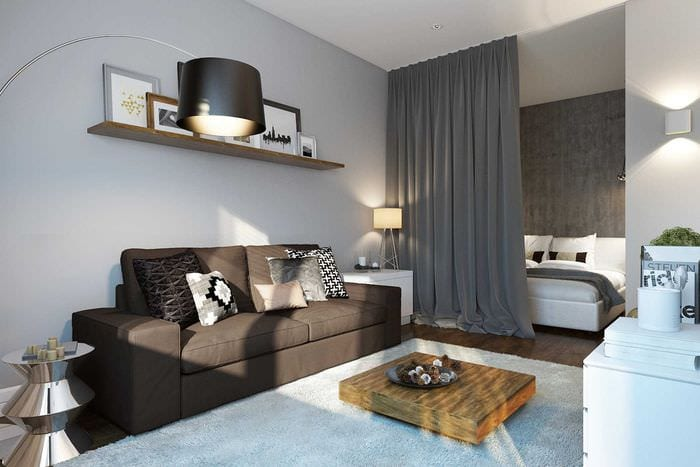 вариант красивого декора двухкомнатной квартиры
