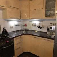 пример красивого интерьера кухни 8 кв.м картинка