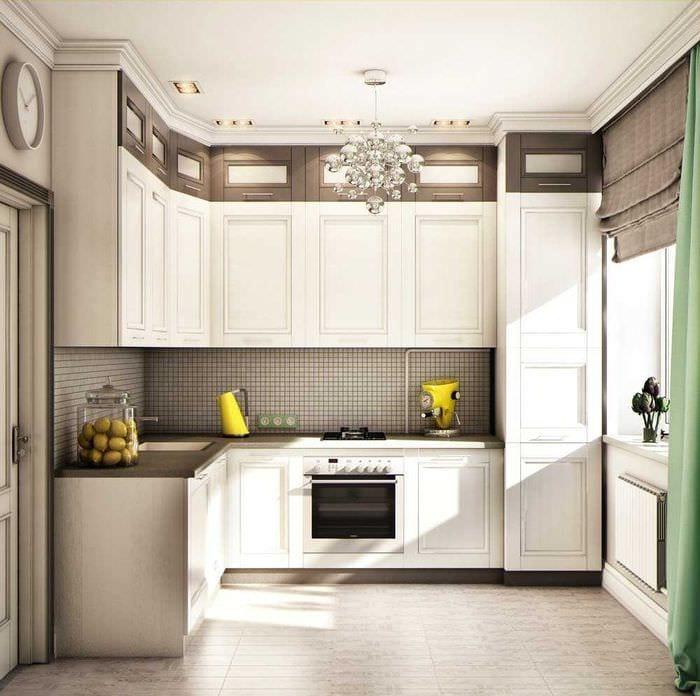 пример необычного декора кухни 9 кв.м
