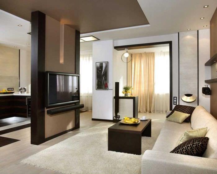 идея яркого интерьера небольшой комнаты в общежитии
