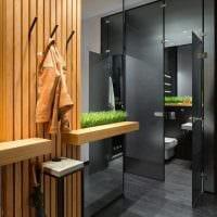 вариант необычного стиля современной прихожей комнаты фото