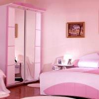 вариант яркого дизайна спальни для девочки в современном стиле картинка