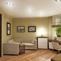 идея необычного сочетания бежевого цвета в дизайне квартиры картинка