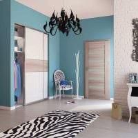 вариант светлого сочетания цвета в декоре современной квартиры фото