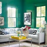 идея красивого сочетания цвета в интерьере современной комнаты картинка