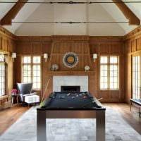 вариант необычного интерьера бильярдной комнаты картинка