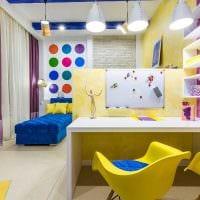 пример красивого дизайна детской комнаты для двоих детей картинка
