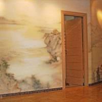 идея необычного дизайна дома с росписью стен картинка
