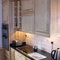 идея светлого интерьера кухни 8 кв.м фото