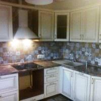 пример светлого стиля кухни 9 кв.м фото