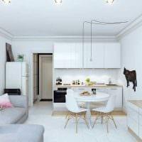 вариант красивого дизайна квартиры студии фото