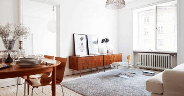 идея яркого стиля квартиры в советском стиле