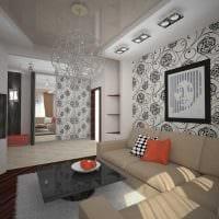 вариант светлого стиля спальни гостиной фото